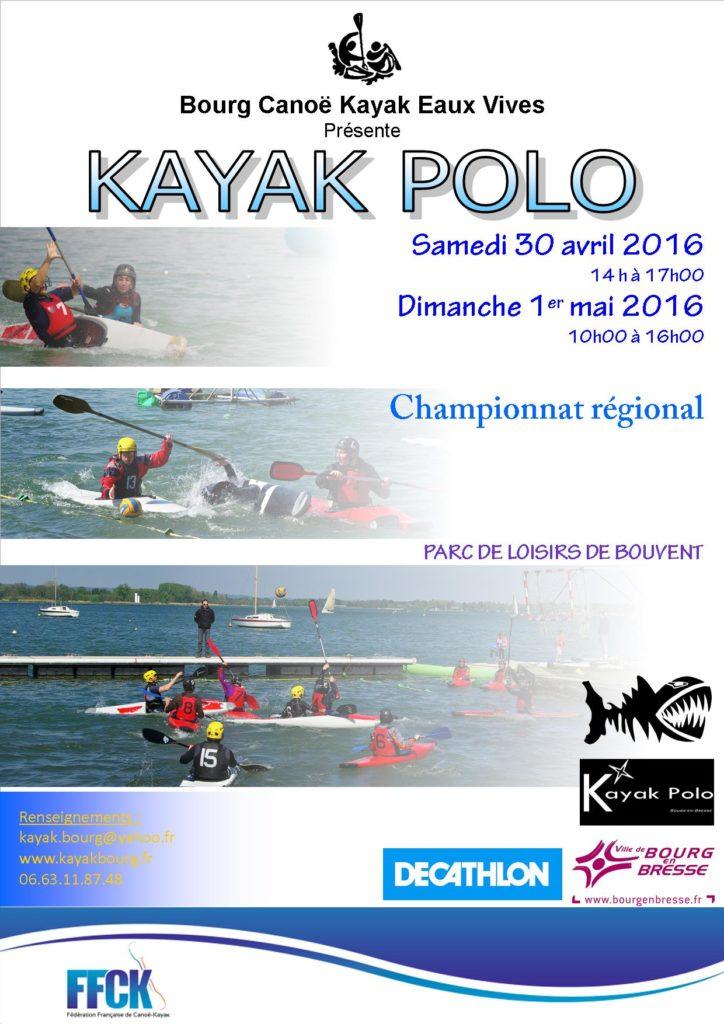 Affiche kayak polo